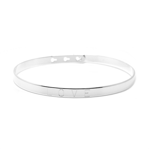 Mya Bay - Love bangle silver