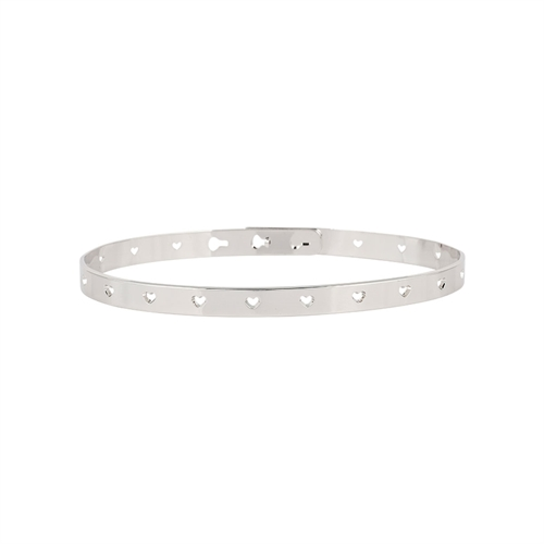 Mya Bay - Heart bangle silver
