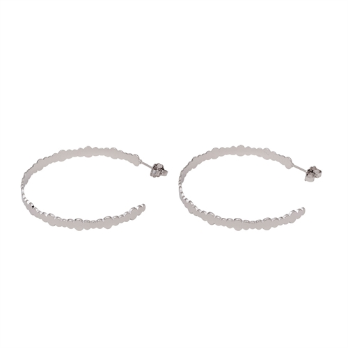 Mya Bay - Bubbles hoops silver